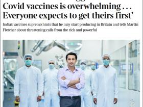 英媒披露:印度疫苗生产商CEO与家人已前往英国